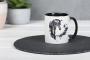 Keramik Fototasse schwarz